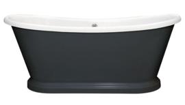 KS- AR14BL-NI Arcade wastafelkraan met donker grijze hendels