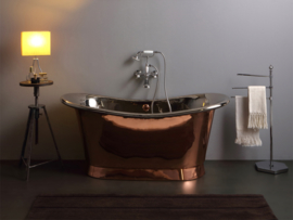 KSB0033 klassiek koperen bad 200x78cm binnenzijde nikkel
