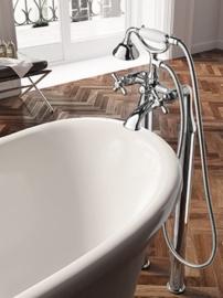 Vrijstaande hoge vloerbuizen tbv klassieke badkraan