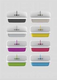 KSW0090W Klassieke uitstortgootsteen 90 cm keuzen uit 18 kleuren