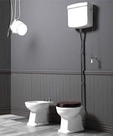 KSLO901C  Londra Toilet AO met hooghangend reservoir