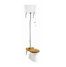 BURC5-02 klassiek toilet  met Engelse PK aansluiting en hooghangend keramiek reservoir
