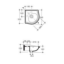 KSF0002 Klassiek hoek Fontein 32x32cm, klassieke hoekhandenwasser