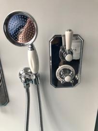 KSKIG001 wandgarnituur chroom met slang en  handdouche met keramisch handvat