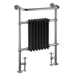 KSR0005Z handdoekradiator met zwart blok