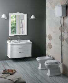 KSTA801H Klassiek toilet met hooghangend reservoir, vloeruitlaat AO