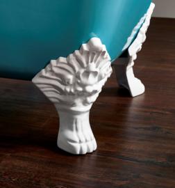 KSB0004 klassiek vrijstaand gietijzeren bad op pootjes / badkuip, model Carlton