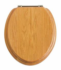 KSTH011 klassieke toiletzitting met verchroomde scharnieren