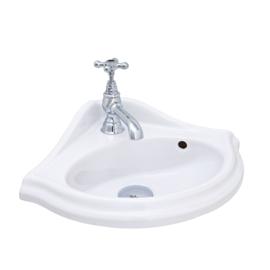KSF002 Klassiek hoek Fontein 32x32cm, klassieke hoekhandenwasser