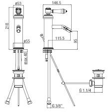 X-KSKA01801CH  Retro een gats mengkraan chroom