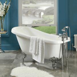 KSKG01704 Klassieke badmengkraan met insteek garnituur en handdouche