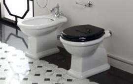 SLA006 toiletzitting voor SLA toiletten zwart met soft close scharnieren