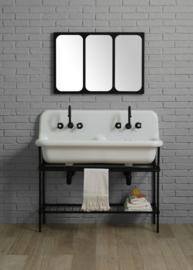 KSM 0026 Klassiek badkamermeubel 120cm met dubbele uitstort gootsteen