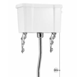 BURC5-19 Burlington toilet pot met Nederlandse AO aansluiting en hooghangend keramisch reservoir