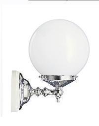 KSV0007 Muurlamp Opal Wit