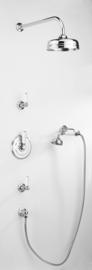 WOLVERS1843CWL klassieke inbouw douchekraan  met omstel voor een hoofddouchechroom