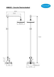 KSK0012 Klassieke thermostaatkraan, douche opbouw wand
