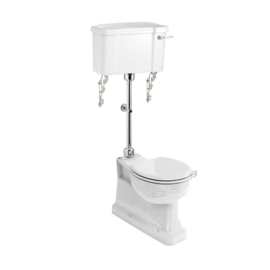 KST0009 Klassiek toilet met AO uitgang, medium hooghangende stortbak