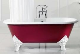 KSB0004 Carlton, klassiek vrijstaand gietijzeren bad op pootjes / badkuip