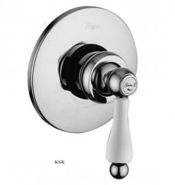 KSKG01705 Klassieke Inbouwdouchekraan mixer met witte hendel