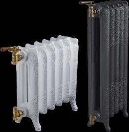 KSR0005 Gietijzeren radiator met antieke uitstraling: Wit of Zwart, op aanvraag