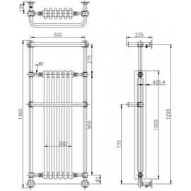 KSR0008 klassieke radiator wandmodel