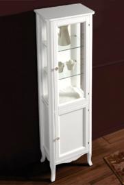 KSM0004 Klassieke hoge badkamerkast / vitrinekast wit