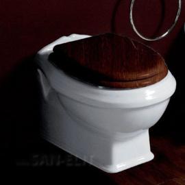 KSTZ03 Toiletzitting Hout / Chroom voor KSTA serie