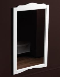 KSS0063 Landelijke badkamerspiegel met klassieke lijst, wit