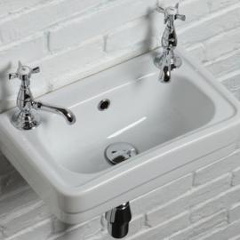 KSF010 klassiek fontein, klassieke handenwasser 45 x 28cm, 1 kraangat rechts