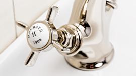 HOT0008  Alfa, Klassieke wastafelkraan, lavabo mengkraan