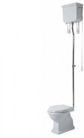 SLA0106 Landelijk toilet incl. klassiek hooghangend reservoir AO