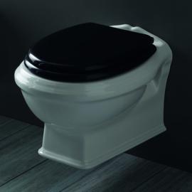 KSTZ04, toiletzitting voor KSTA, Arcade. Old England zwart met soft close scharnieren chroom