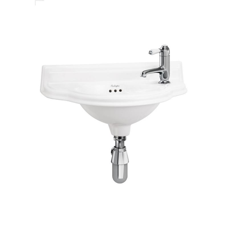 KSF0013A  Klassiek retro fontein 50x25m kraan gat rechts, klassieke handenwasser