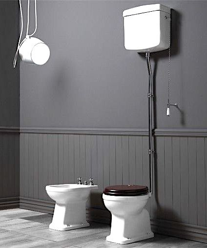 KSLO901 Londra Toilet AO met hooghangend reservoir