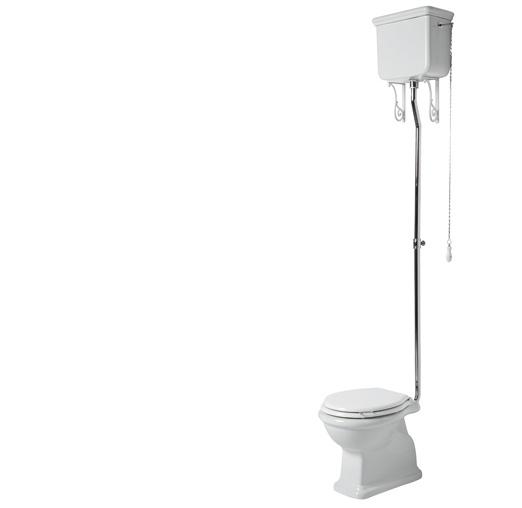 SLA0206 Landelijke toilet inclusief hooghangend reservoir, PK