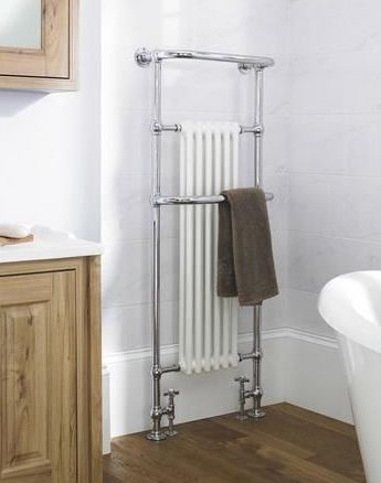 KSR0007 Staande klassieke radiator met wit blok