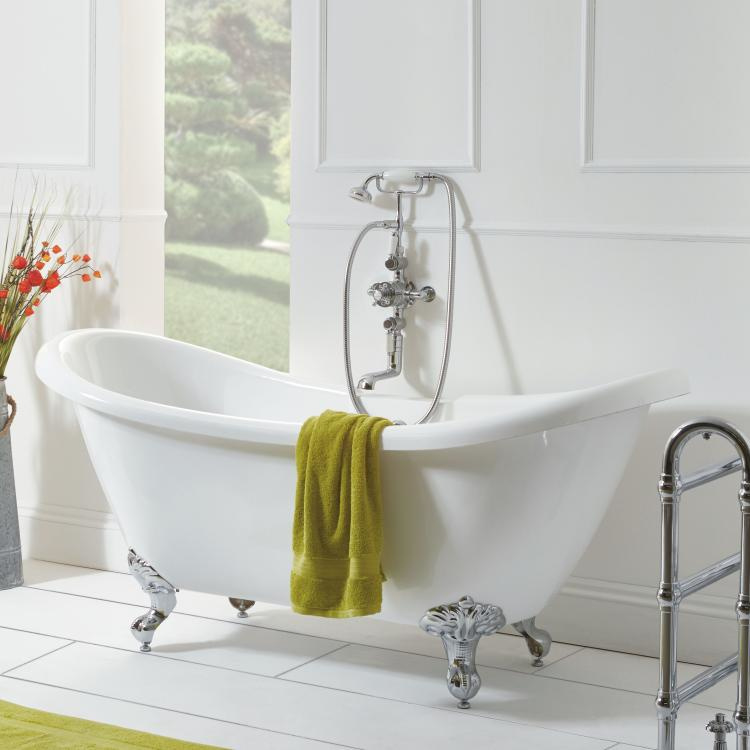 KSB101 Vrijstaand bad met dubbele rug