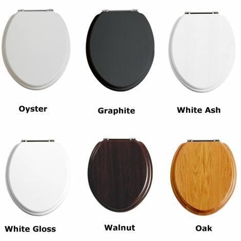 KSTH021 klassieke toiletzitting met verchroomde SOFT CLOSE scharnieren