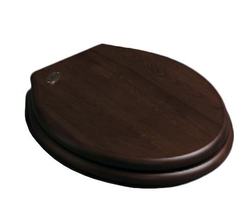 KSLOZ004 Toiletzitting met deksel donker hout