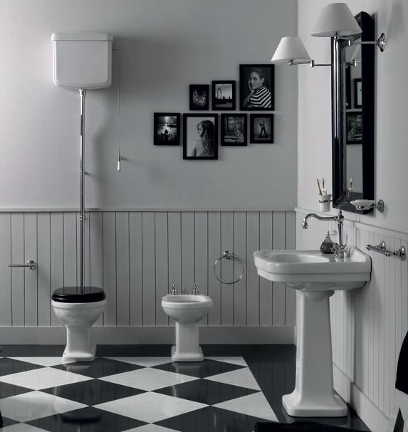 LO901 Londra Toilet AO met hooghangend reservoir