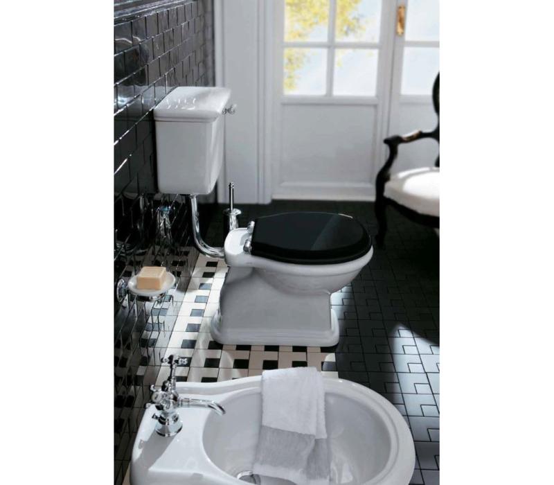 SLA0128b Landelijke toilet inclusief laaghangend reservoir, AO