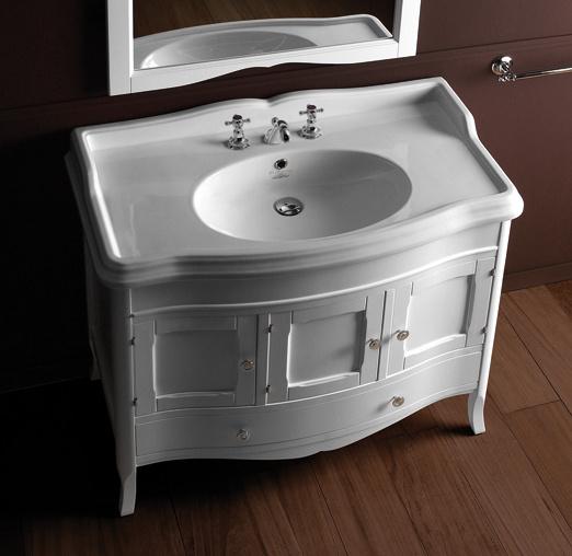 KSM0011 Landelijk badkamermeubel 105 cm, incl. Arcade wastafel Old England