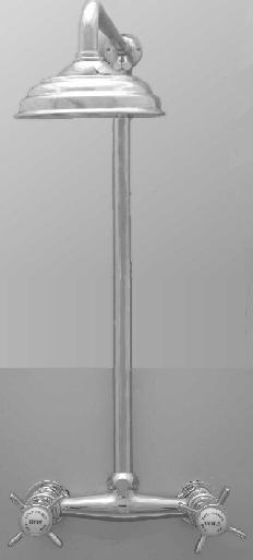KSK0017 Klassieke douchemengkraan set met stijgbuis en 200mm hoofddouche,