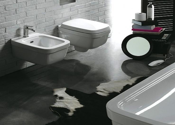 landelijke wandcloset, klassieke toilet en badkamer