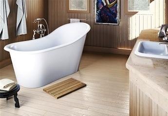 vrijstaand bad, klassiek sanitair