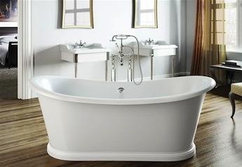 vrijstaande klassieke badkraan, klassieke badkamer