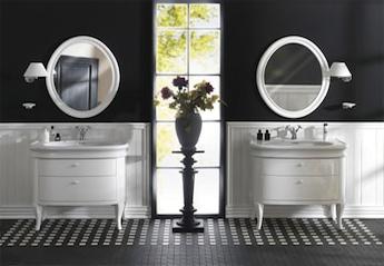 landelijke badkamermeubels met wastafel