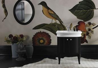 simas wastafel in klassieke badkamer, badmeubel,
