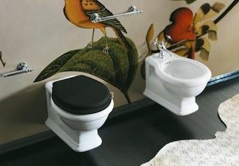 klassieke wandcloset, simas landelijke toilet
